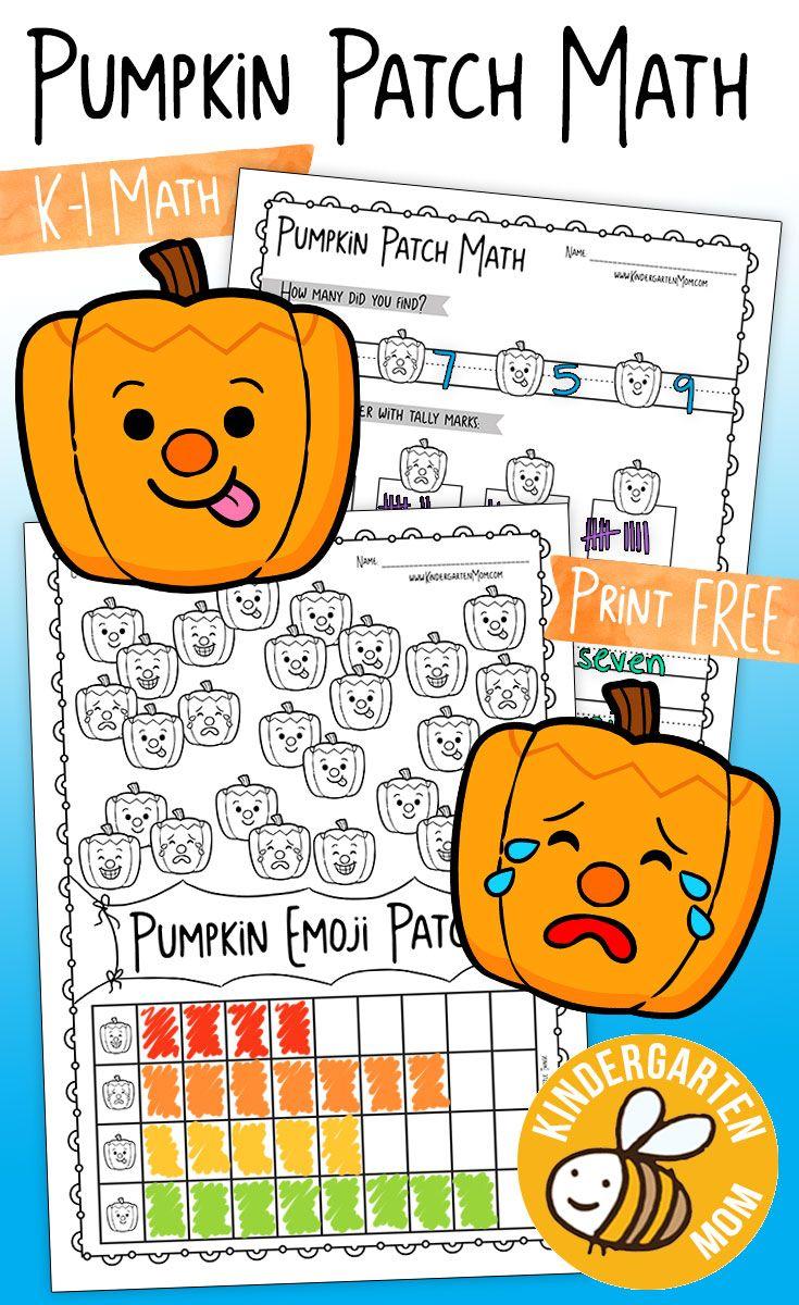 Free Pumpkin Math Worksheets For Kindergarten Includes Graphing Number Words Tally Marks Inequalities Pumpkin Math Kindergarten Math Worksheets Emoji Math [ 1200 x 735 Pixel ]