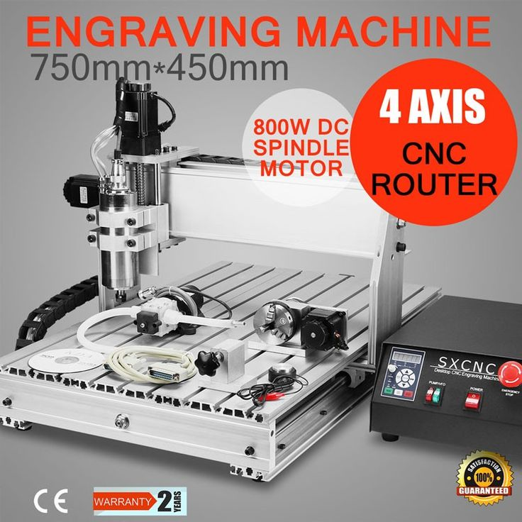 VEVOR 3d crystal Updated New 4 Axis USB CNC Router 6040 with 800W Spindle with four axis(rotary axis) water cooling