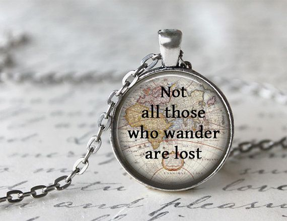 Quote Necklace, Not All Those Who Wander Are Lost, Inspiring Jewelry, Tolkien Quote Necklace, Inspirational Jewelry on Etsy, $20.68 AUD