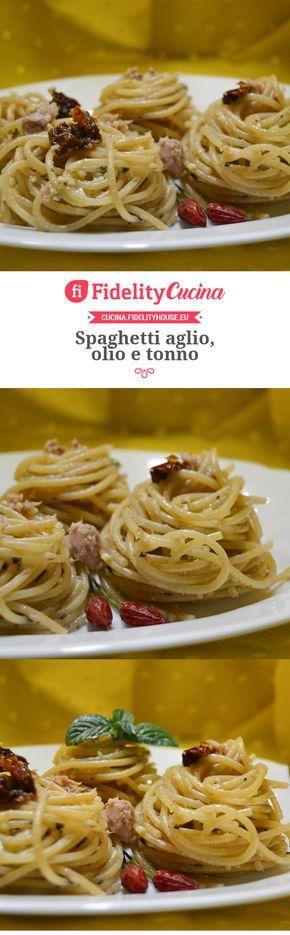Spaghetti aglio, olio e tonno