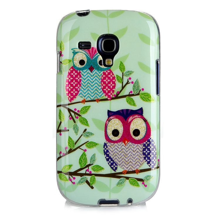 3D Cartoon Owls Phone Case sFor Samsung Galaxy S3 mini i8190 iii Glitter Cute Soft Silicone TPU Back Cover For Galaxy S3 mini