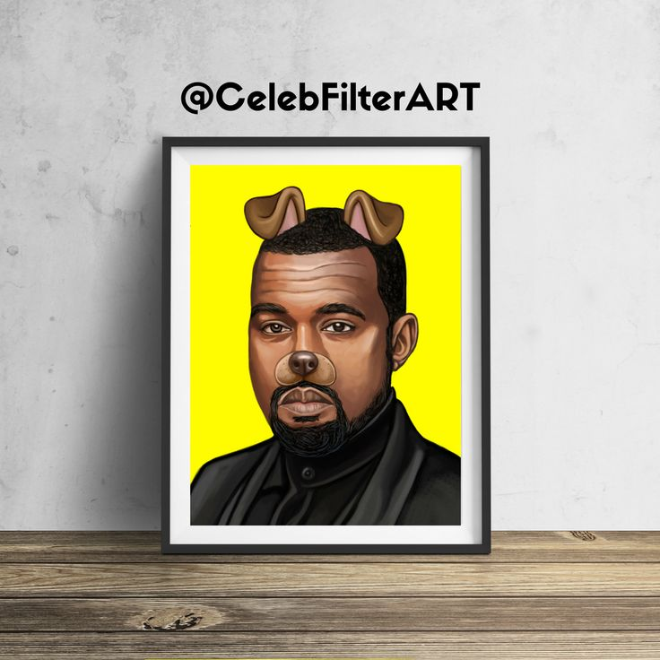 CelebFilterArt donates a portion of all profits to a non-profit funding arts programs in public elementary schools.  This original Kanye West wall art will be sure to stop people in their tracks... and for a good cause!  Printed to order (not mass produced) using heavyweight professional endura premier paper.  Every piece sold helps foster the creativity, dreams, hopes, and imaginations of our children.  FREE SHIPPING FRAME NOT INCLUDED