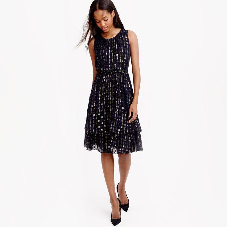 Metallic textured-dot dress : dresses & Jumpsuits   J.Crew