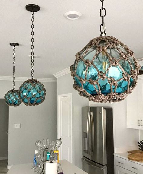 Coastal Lamps Inspired By Fishing Glass Floats In 2019