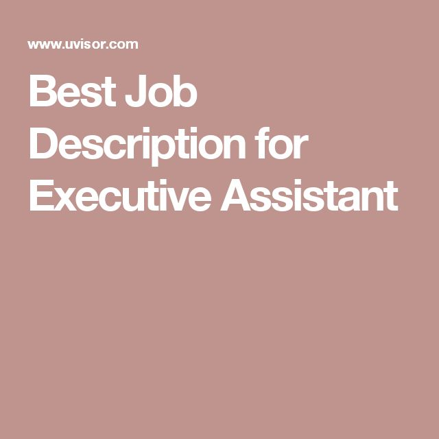 The  Best Executive Assistant Job Description Ideas On