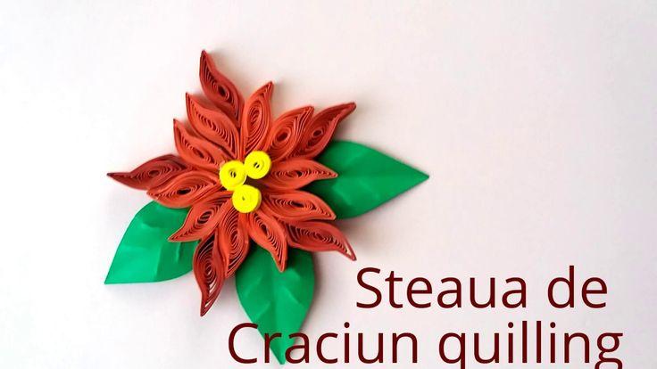 Tutorial-steaua de Craciun quilling---Tutorial-star Christmas quilling