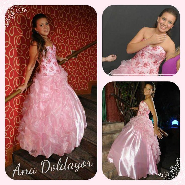 Un vestido especial para una quinceañera muy especial.. Gracias Noelia por dejarme crear tu vestido :) Cumplís 15?? Llámame al 1160012891 y coordinamos una entrevista para crear juntas el vestido de tus sueños!! #AnaDoldayor #Vestido #15Años #Rosa