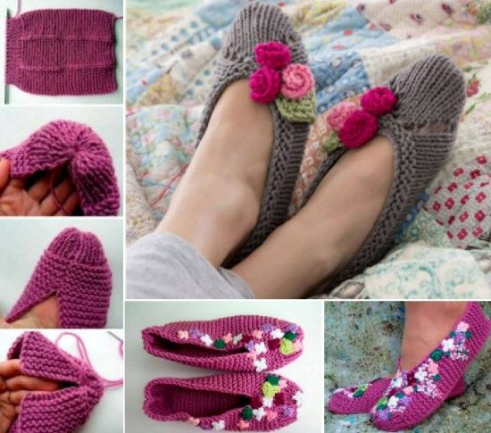 Knitted Slippers Free Patterns