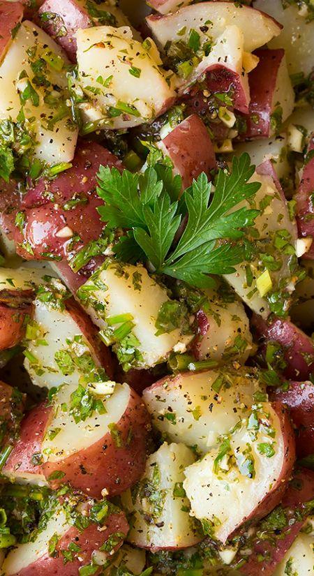 Garlic-Herb Potato Salad ~ It's the perfect summer