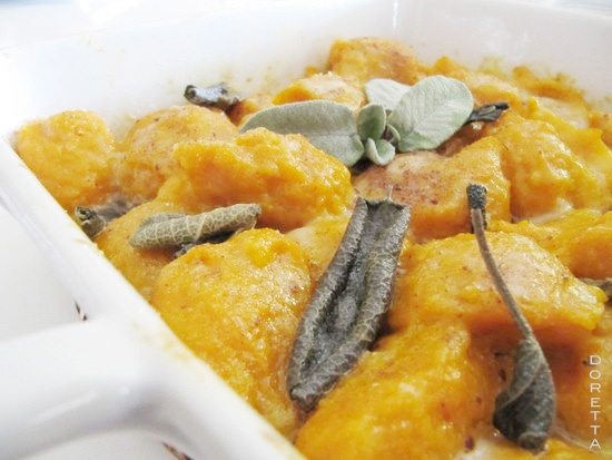 Gnocchi di zucca al forno?..this is a great blog filled with Great recipes from Italy. There is a built in Google translator to English (or other languages).