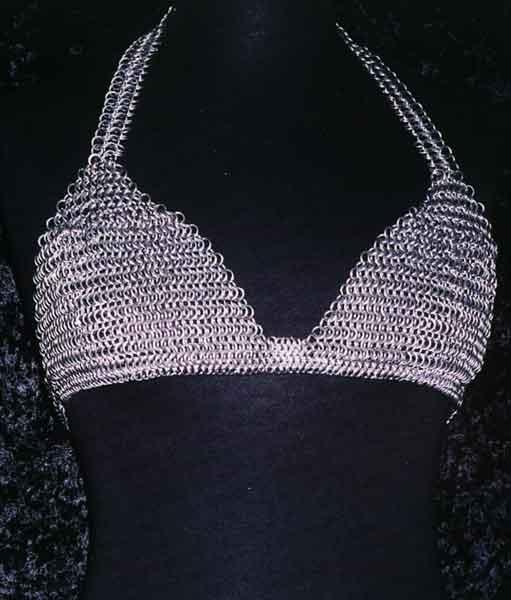 Chain mail bra