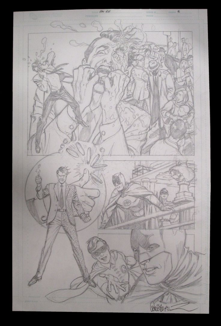 Jose Luis Garcia-Lopez Page #8 of 'The Two-Way Crimes of Two-Face' from Batman '66 The Lost Episode #1  Comic Art