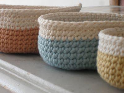 A trio of baskets | free crochet pattern