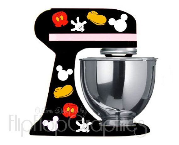 Disney Mickey Mouse Pieces For Your Dark Black Kitchen Mixer