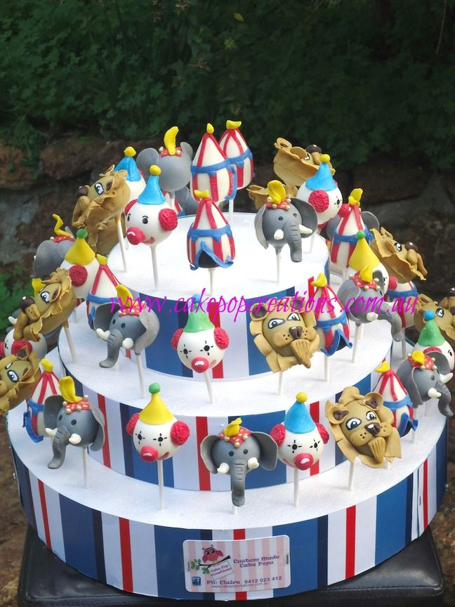 Circus Themed Cake Pops – Cake Pop Creations   Perth. so cool for a circus party.