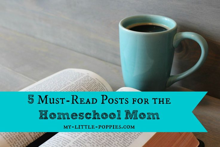 5 Must-Read Posts for the Homeschool Mom  Need some encouragement when family life and homeschooling gets tough? Grab a cup of coffee and read these inspiring articles.