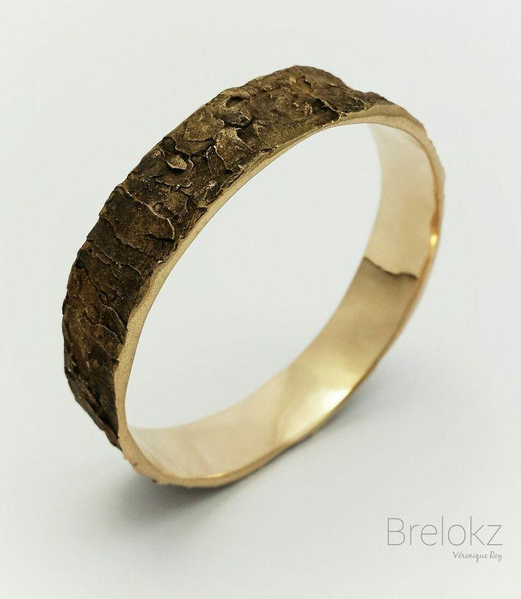 Oak Bark Barcelet. Bronze www.brelokz.etsy.com