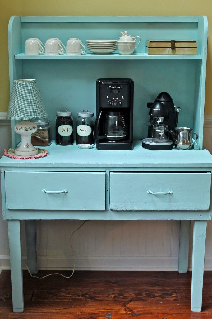 Coffee Nook--Repaint an old piece of furniture to make it look like new!