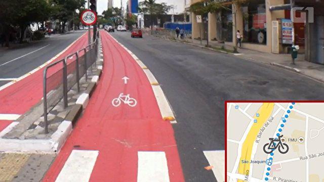 Vídeo em versão acelerada mostra o que há pelas ciclovias de São Paulo. Dia mundial sem carro
