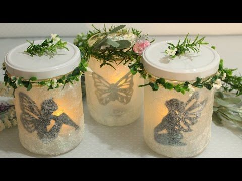 DIY Leuchtende Deko-Gläser | Feen-Laternen | Fairy Jars | Fairy Lantern - YouTube