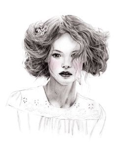 fashion illustration portraits - Google Search