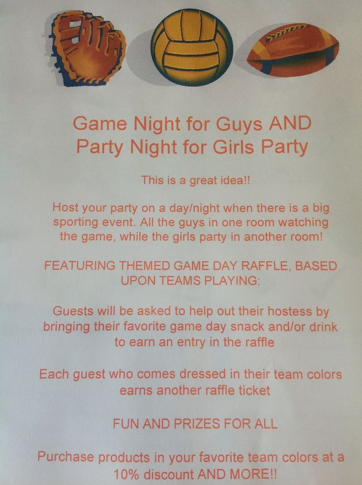 Great idea for a direct sales theme party during football season!  www.facebook.com/SuesPaperlyPage