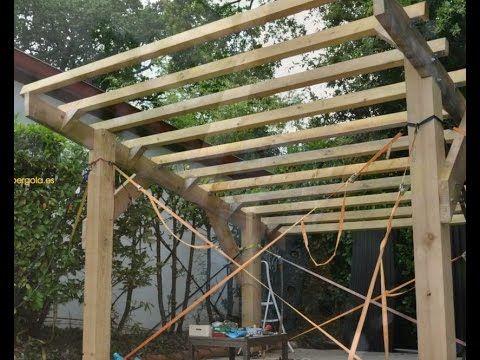 Como hacer una pérgola de madera : pasos de montaje - YouTube