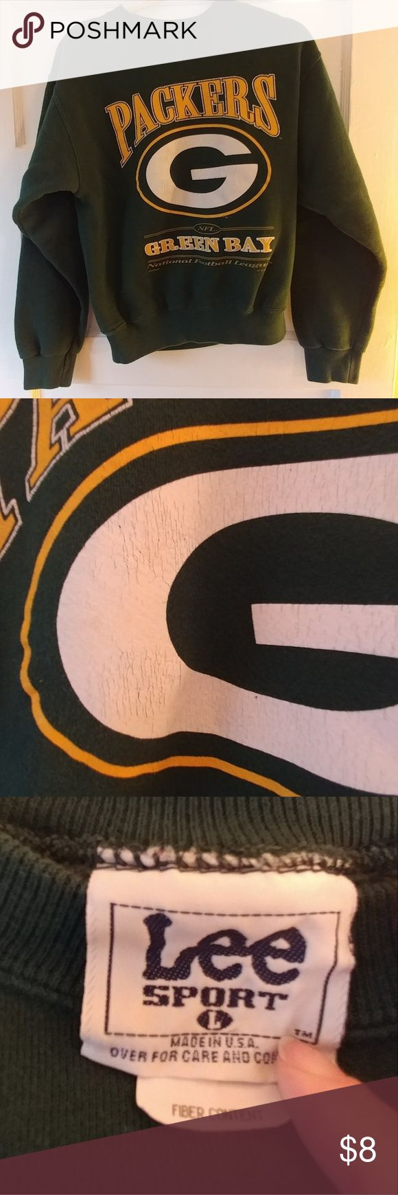 Sweatshirt Drk green sweatshirt...Green Bay Packers Lee Sport Shirts & Tops Sweatshirts & Hoodies