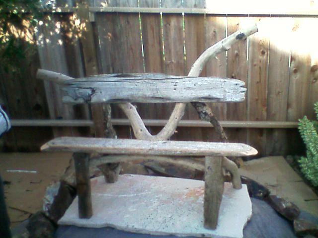 bench driftwood oak pnw red