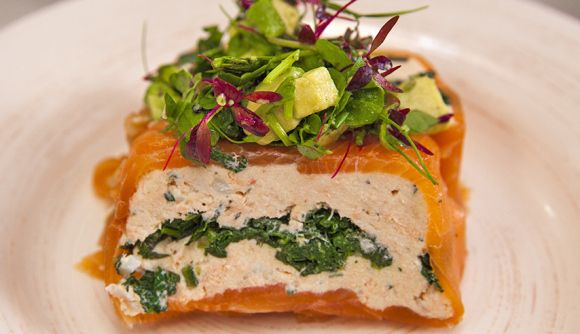 Salmon and Spinach Terrine