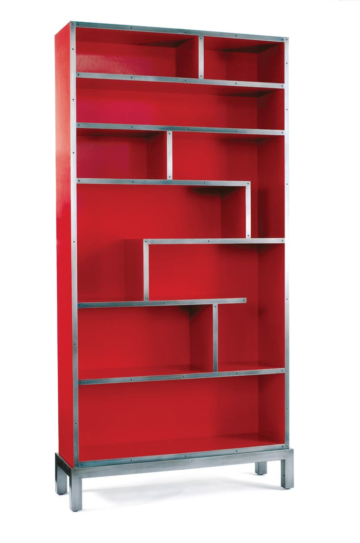 Chateau bookcase walnut leaning bookcase white modern bookcase walnut - Red Bookshelf By Harris Rubin Midcentury Modern Transitional Metal Lacquer Bookcases Tagere By Dennis Miller Associates Specila Order Granny Smith Green