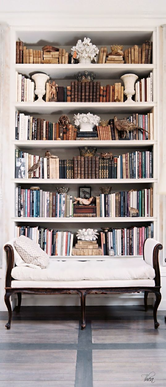 French Colonial Traditional Vintage Bookshelf