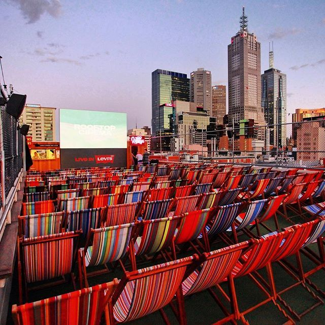 What A View! Nothing like a Movie Marathon with this Beautiful #Melbourne City Skyline at Rooftop Cinema & Bar, Swanston St.