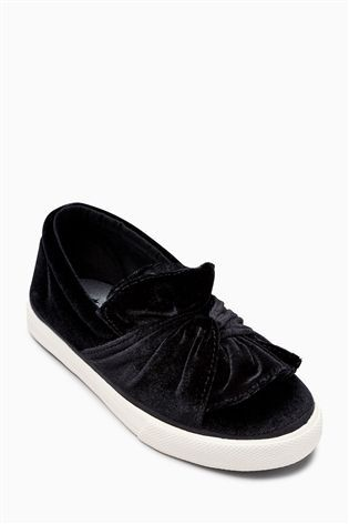 Buy Black Knot Front Skate Trainers (Older Girls) from the Next UK online shop