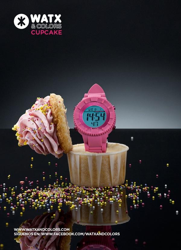 WATX & COLORS Cupcake: Relojes de colores tendencia con esferas y correas intercambiables. ¡Más de 100 combinaciones diferentes para estrenar reloj cada día!