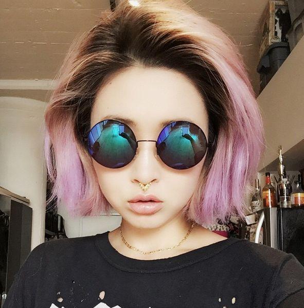 colored short hair highlight pastel - Pesquisa Google