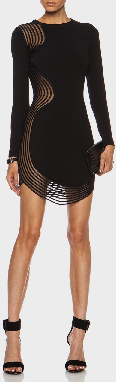 Stella McCartney. Minimal accessories needed with this hot black dress! Be bold. Mindfully Styled