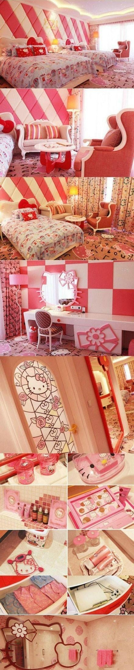 Hello Kitty Hotel in Osaka, Japan...I want to go there :D