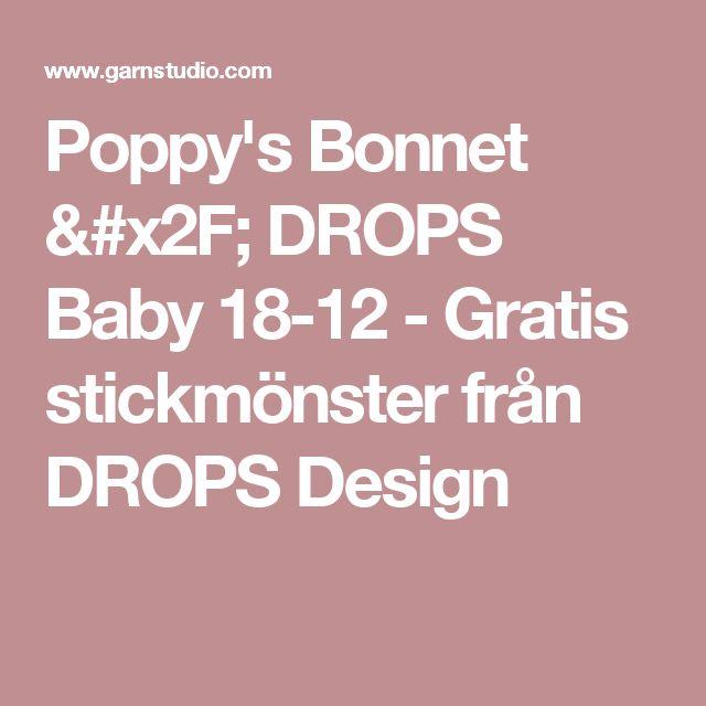 Poppy's Bonnet / DROPS Baby 18-12 - Gratis stickmönster från DROPS Design