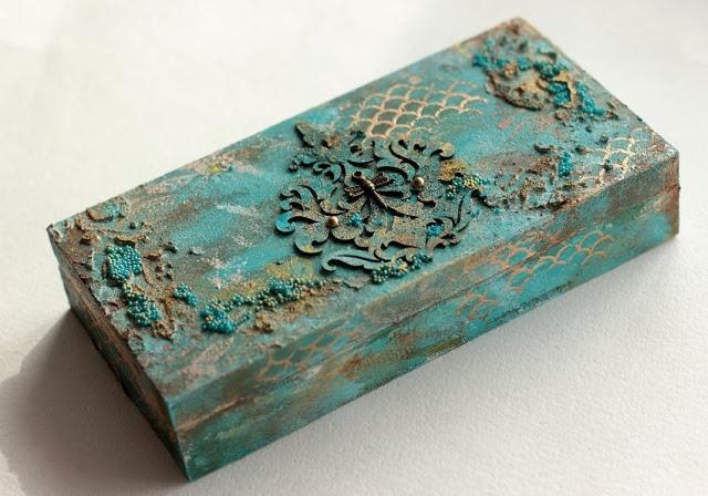 #Altered #Box by @Elena Kovyrzina Olinevich with 3rd Eye stamps <3 http://3rdeyecraft.com/ <3 #stamping #stamp #craft