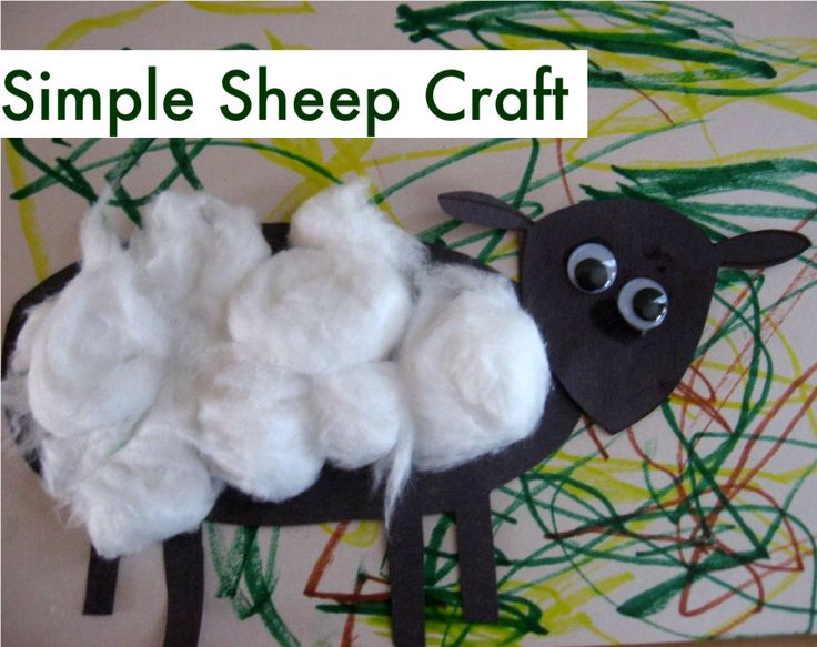 Simple Sheep Craft ~ No Time for Flash Cards