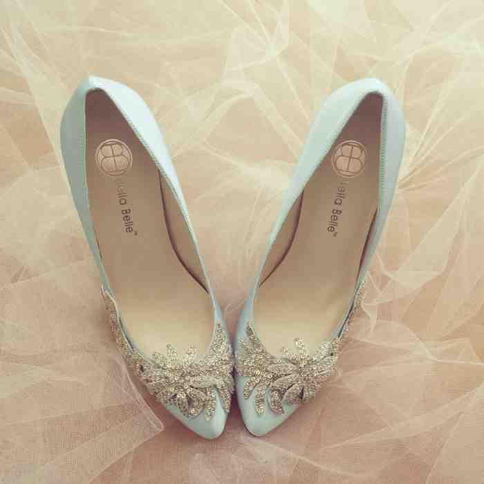 Vintage Blue Wedding Shoes