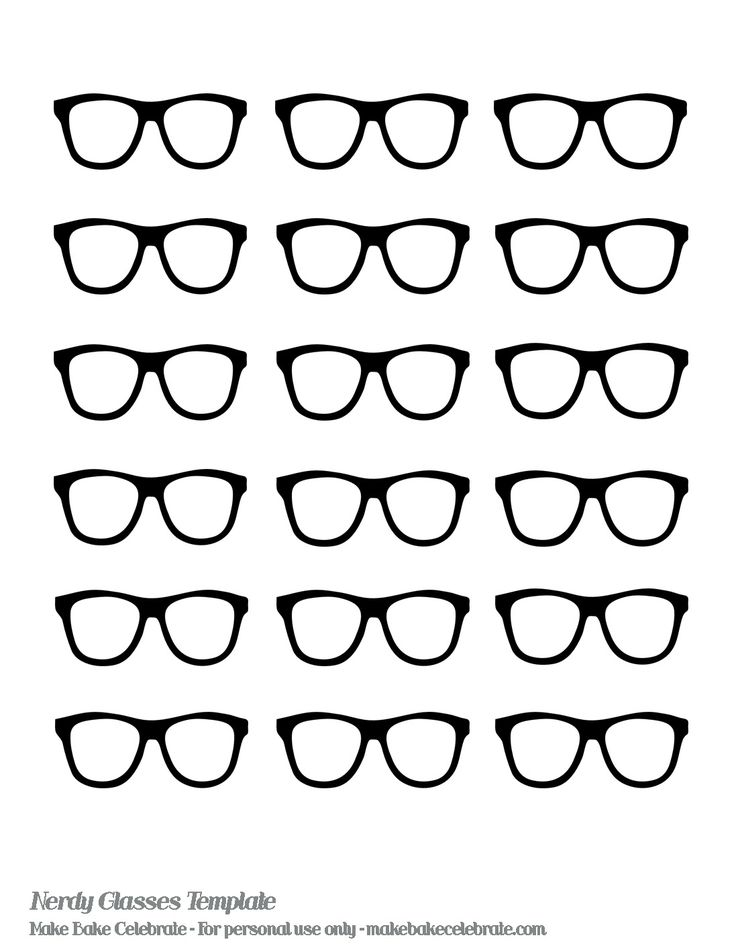 Nerd Glasses Template | even made a nerdy glasses template to share with you: