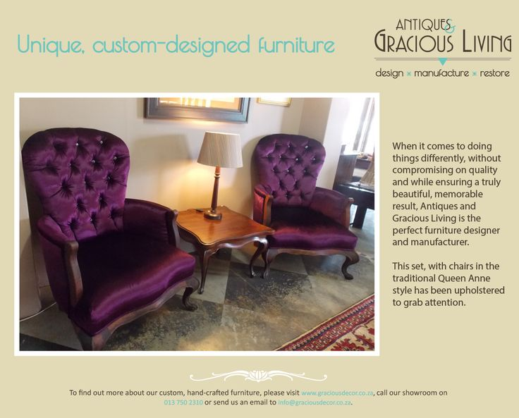 Luxuriously upholstered chairs
