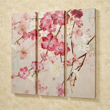 Majestic Blooms Floral Triptych Canvas Art Set