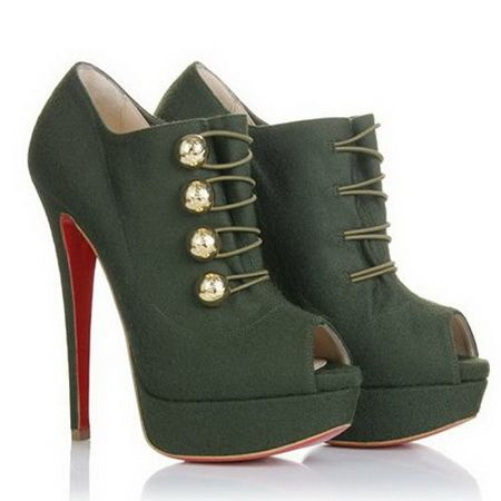 Christian Louboutin Booties Loubout 150mm Flannel Marine