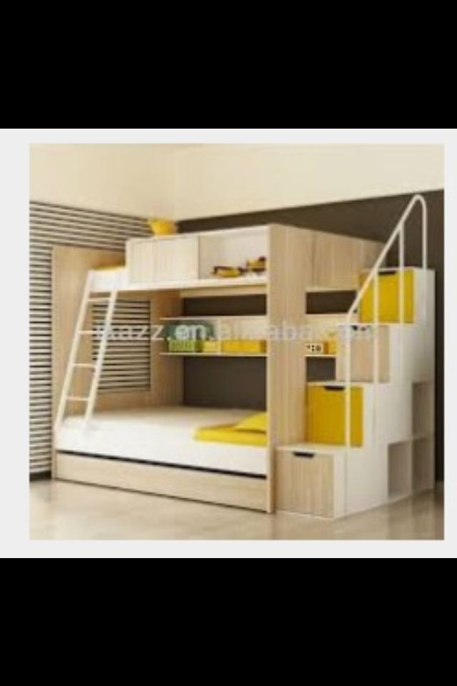 bunk bed lit superpose chambre enfant lits superposes pinterest escaliers lits et lit. Black Bedroom Furniture Sets. Home Design Ideas