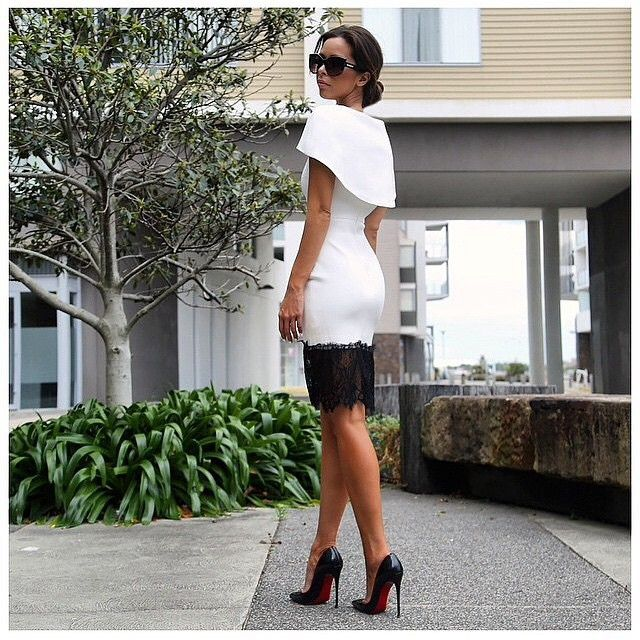 black and white dress – Esther Boutique