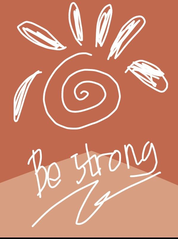 Be strong wallpaper