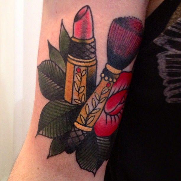 makeup brush tattoo - photo #9
